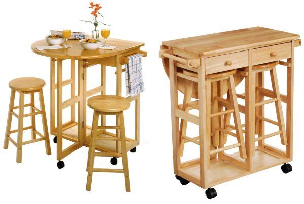 Мобильный раскладной стол и стулья