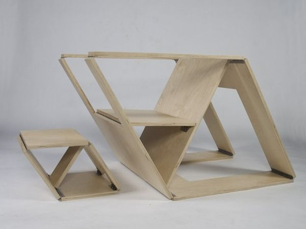 Раскладные стол и стул
