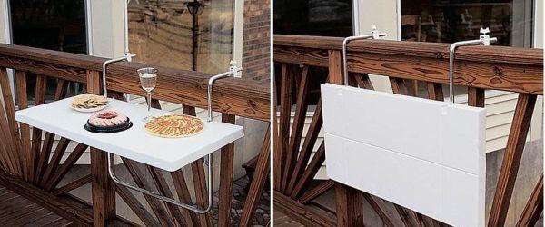 Складной столик для балкона