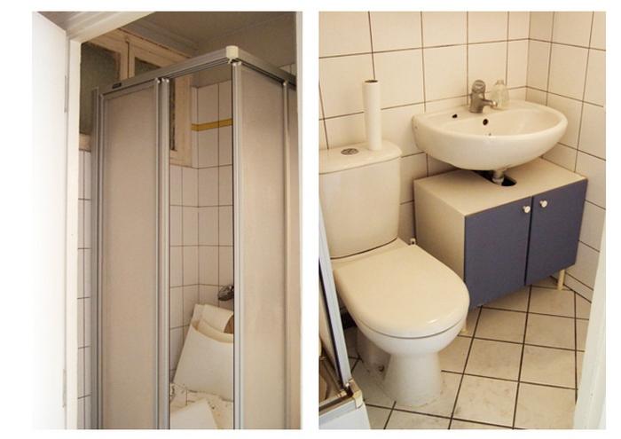 Ванная маленькой квартиры-студии до ремонта