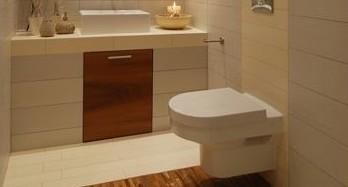 Подвесной унитаз в интерьере ванной
