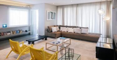 Интерьер гостиной в холостяцкой квартире
