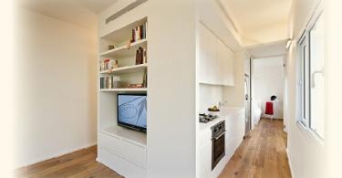 Интерьер небольшой многофункциональной комнаты