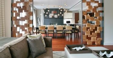 Перегородка между гостиной и столовой