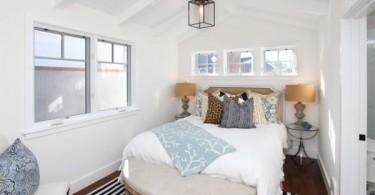 Интерьер спальни в нежной цветовой гамме