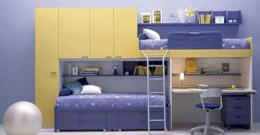 Двухуровневая кровать в детской