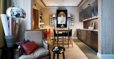 Домашний офис в интерьере столовой
