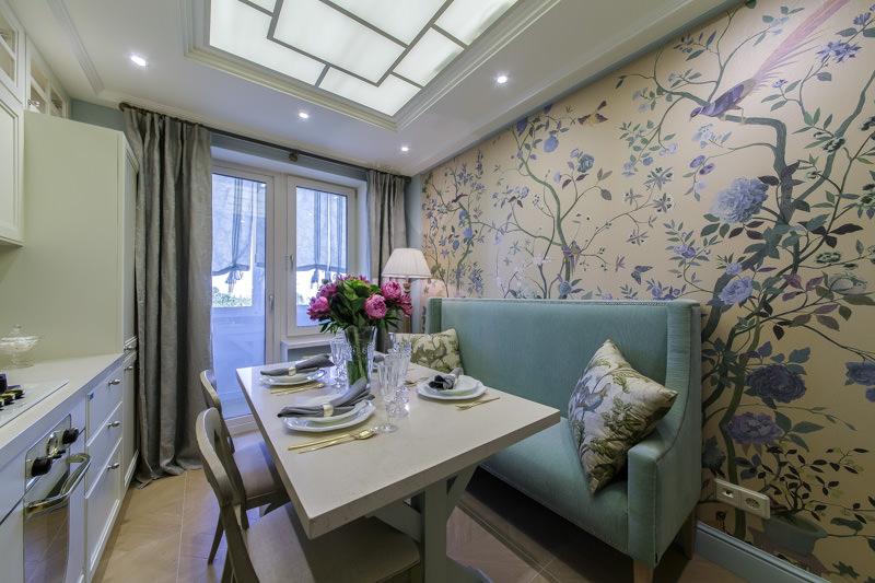 Интерьер кухни 12 кв.м с балконом фото