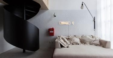 Интерьер небольшой двухуровневой квартиры