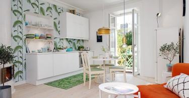 Интерьер кухни в шведском стиле