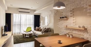 Интерьер вытянутой малогабаритной квартиры