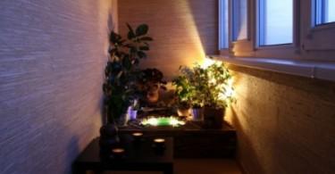 Искусственное освещение на балконе