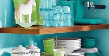 Кухонные мелочи в бирюзовом цвете