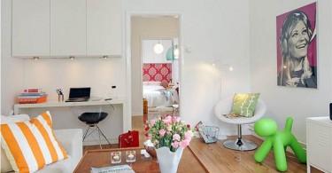Интерьер малогабаритной квартиры в белом цвете