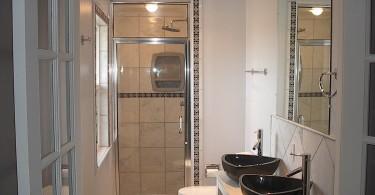Интерьер туалетав чёрно-белом цвете