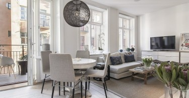 Интерьер столовой в гостиной