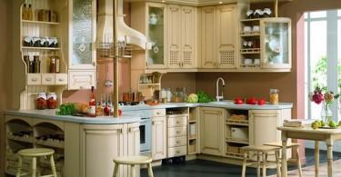 Интерьер роскошной функциональной мини-кухни