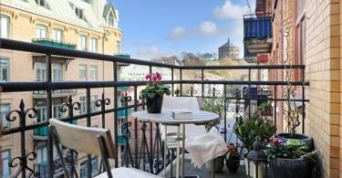 Балкон с роскошным видом на город