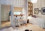 Интерьер малогабаритной квартиры в светлых тонах