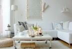 Уютная гостиная в белом цвете