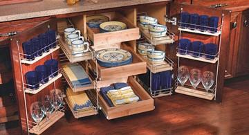 Система хранения посуды на кухне