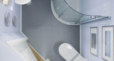 Интерьер светлой компактной ванной комнаты