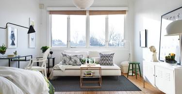 Интерьер маленькой однокомнатной квартиры