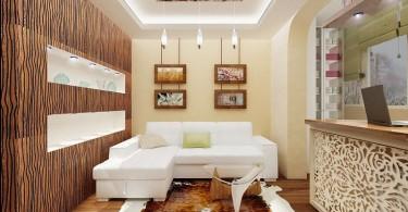 Интерьер роскошной современной гостиной