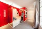 Трансформируемая спальня в красном цвете