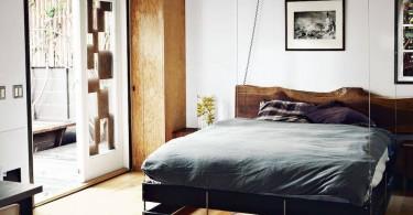 Интерьер спальни с откидной кроватью