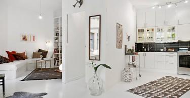 Интерьер студии в белом цвете