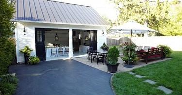 Летняя кухня и патио в гараже
