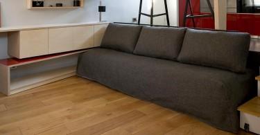 Раскладной диван в маленькой студии