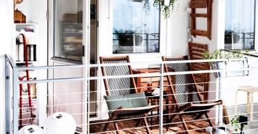 Складная мебель на балконе