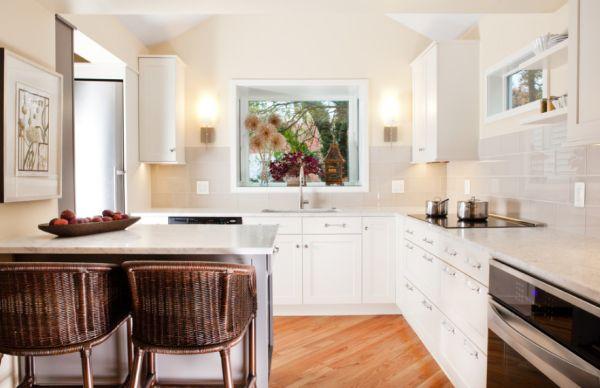 Как расширить визуально маленькую кухню