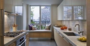 Подоконник для отдыха на кухне