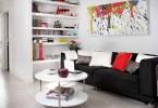 Яркие элементы в оформлении гостиной
