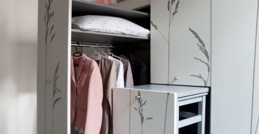 Шкаф с интерьерным принтом