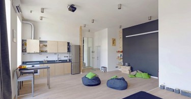 Дизайнерский интерьер небольшой квартиры-студии