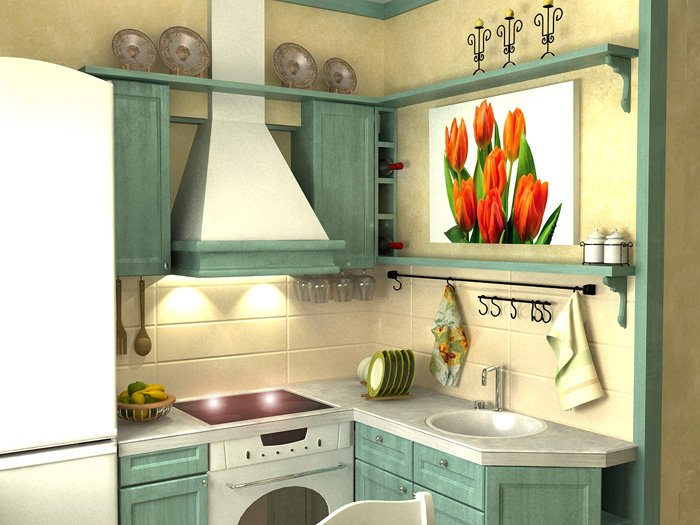 Дизайн проект малогабаритной кухни