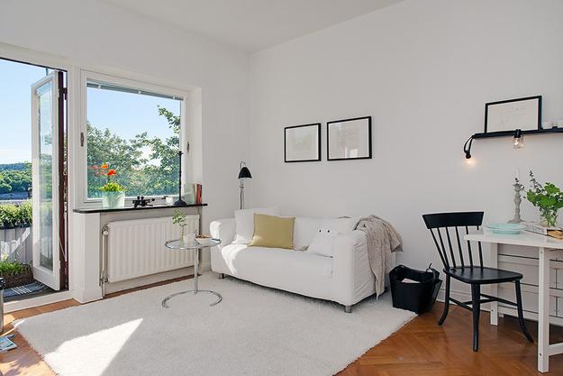 Интерьер малогабаритная квартиры в Гетеборге