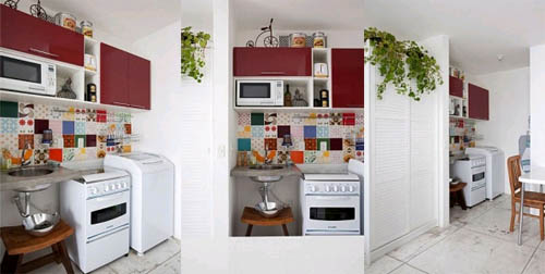 Интерьер небольшой квартиры-студии для женщины
