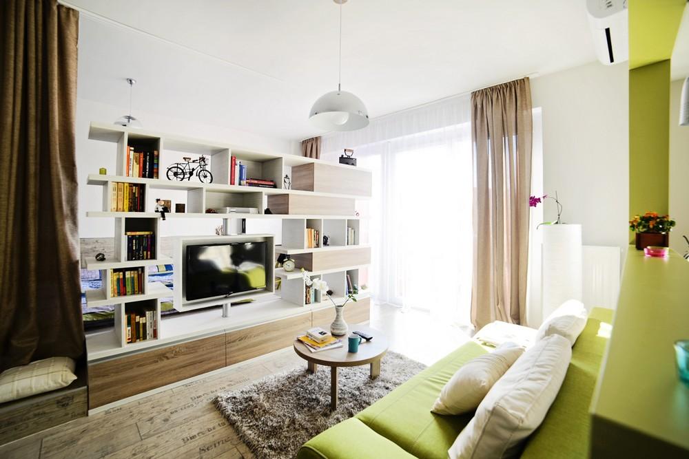 Дизайн в однокомнатной квартире 40 кв м интерьера