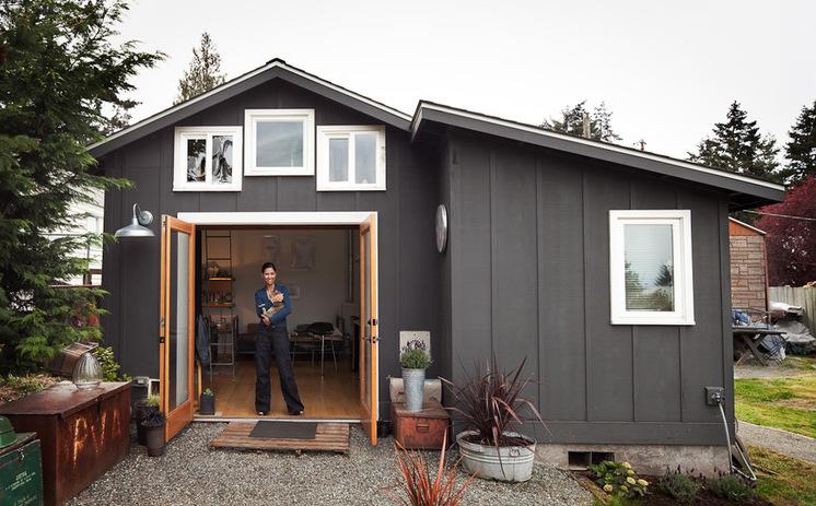 Стильное жильё в гараже