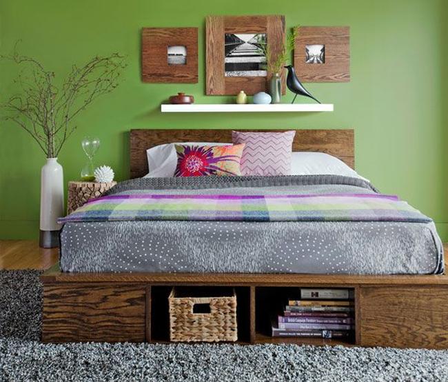 Оригинальное использования места под кроватью