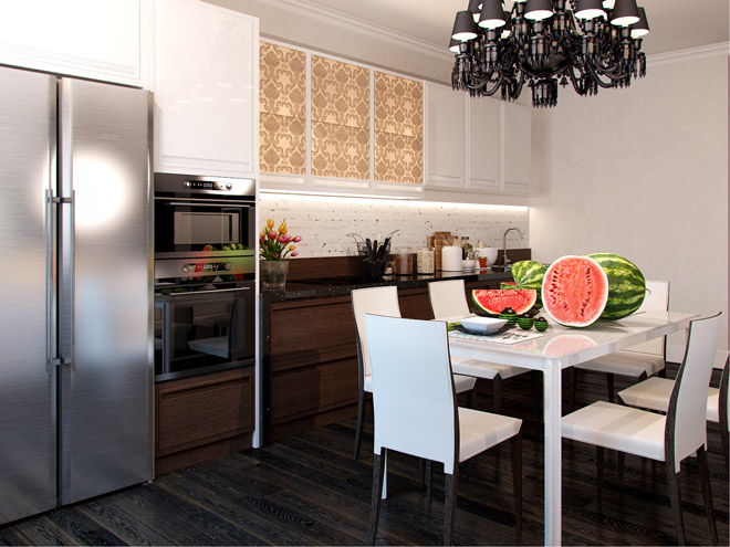 Дизайн маленькой кухни