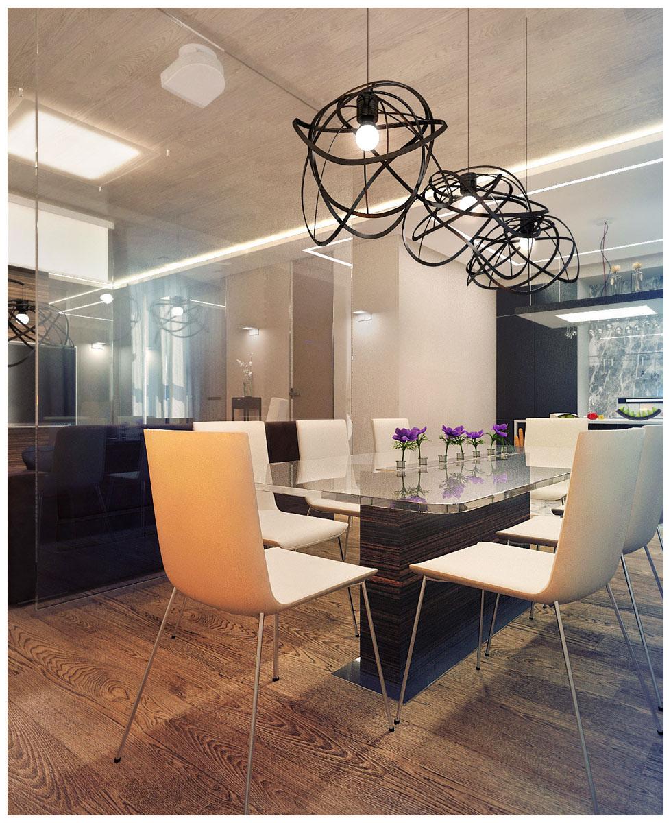Современный дизайн интерьера маленькой квартиры