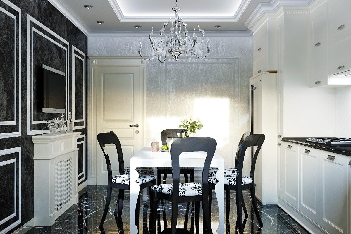 Пример дизайна интерьера маленькой кухни на фото
