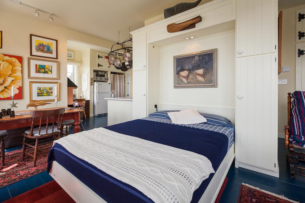 Подъемная кровать в белом цвете