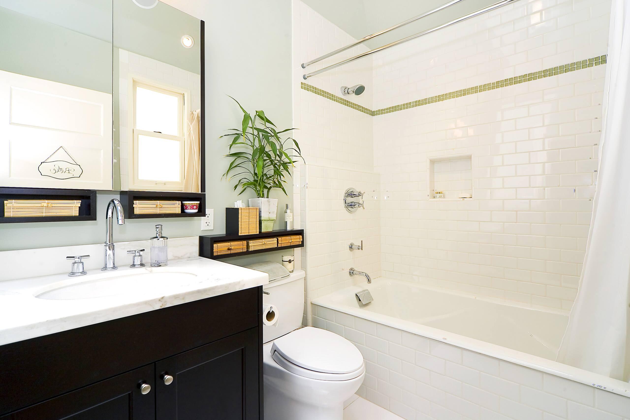 Плитка в виде кирпича в ванной